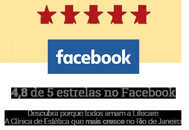 4,8 de 5 estrelas no Facebook